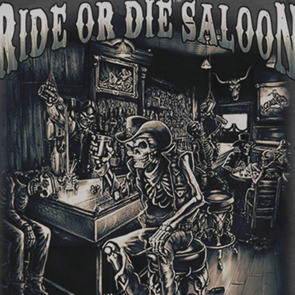 Hot Leathers Ride or Die Saloon T-shirt