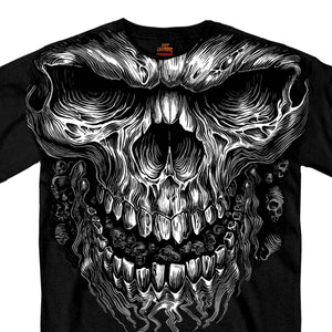 Hot Leathers Shredder Skull Jumbo Print Shirt