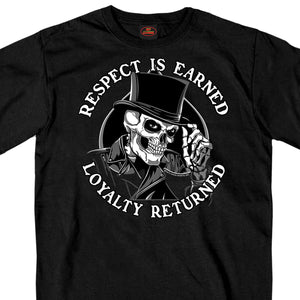 Hot Leathers Respect Top Hat T-Shirt