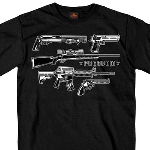 Hot Leathers Freedom Guns Men's T-Shirt