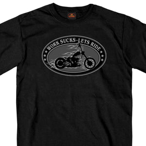 Hot Leathers Work Sucks Oval T-Shirt