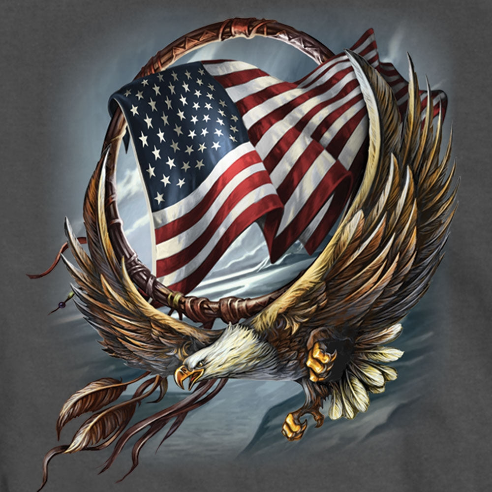 Hot Leathers Hoop Eagle Men's T-Shirt