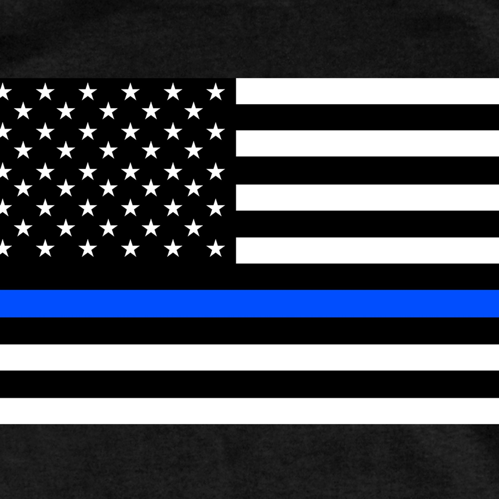 Hot Leathers Mens Thin Blue Line American Flag T-Shirt