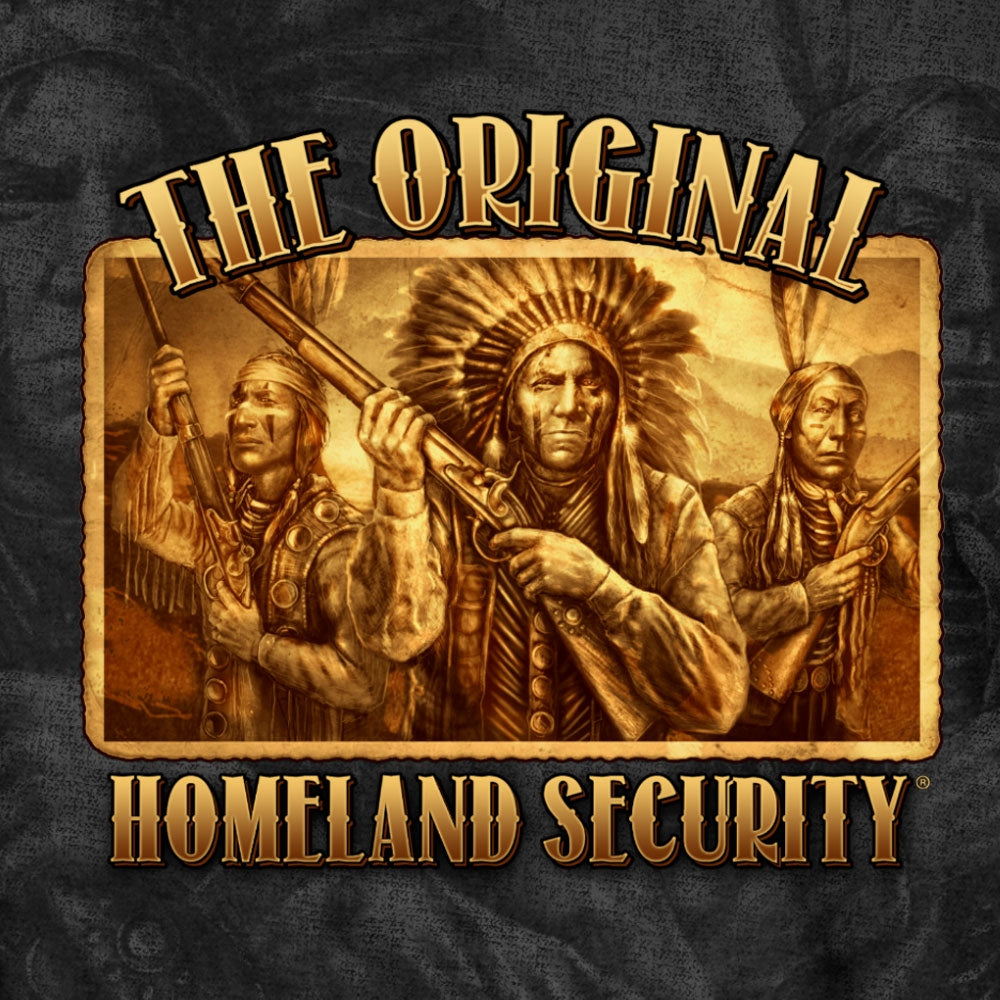 Hot Leathers Original Homeland Security Native American T-Shirt