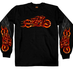 Hot Leathers Fire Bobber Long Sleeve Shirt