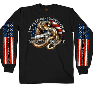 Hot Leathers Mens Black Long Sleeve 2nd Amendment Shirt