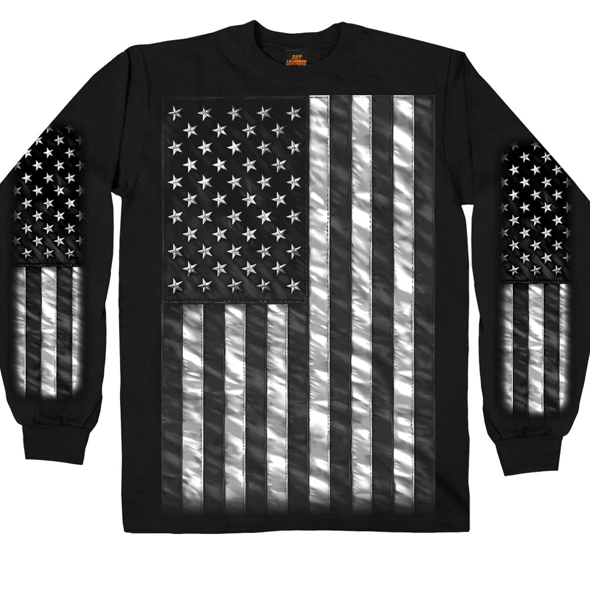 Hot Leathers American Flag Long Sleeve