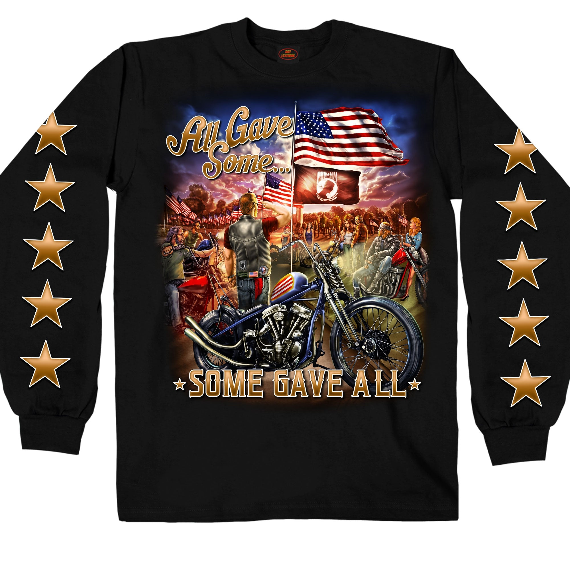 Hot Leathers Remembrance All Gave Some Long Sleeve