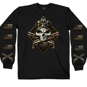Hot Leathers 2nd Amendment Camo Skull Long Sleeve