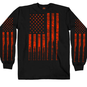 Hot Leathers Flag Bullets Long Sleeve
