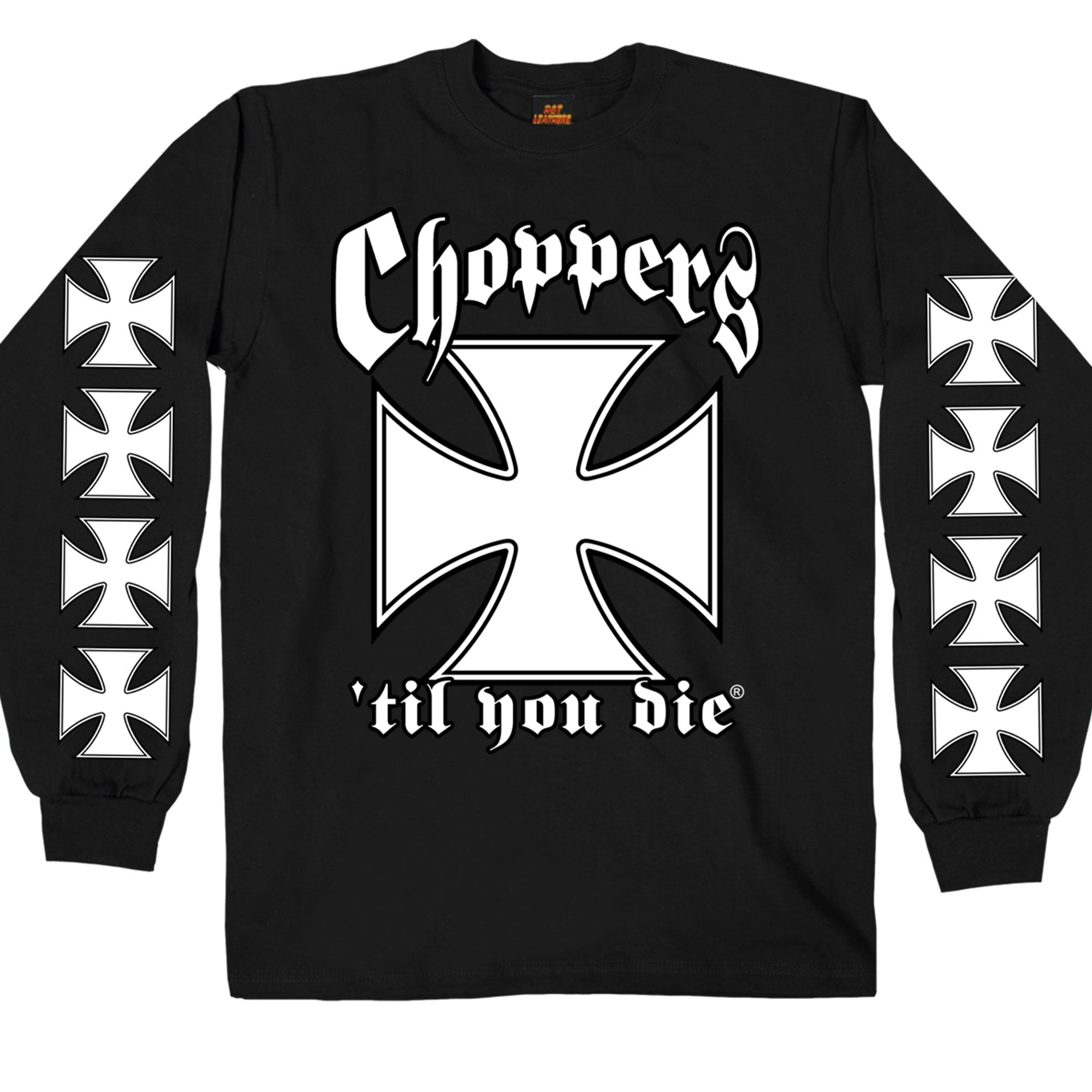 Hot Leathers Classic Choppers 'Til You Die Black Long Sleeve