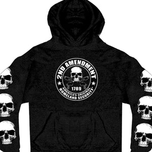 Hot Leathers Mens 2nd Amendment America's Original Homeland Security Hoodie
