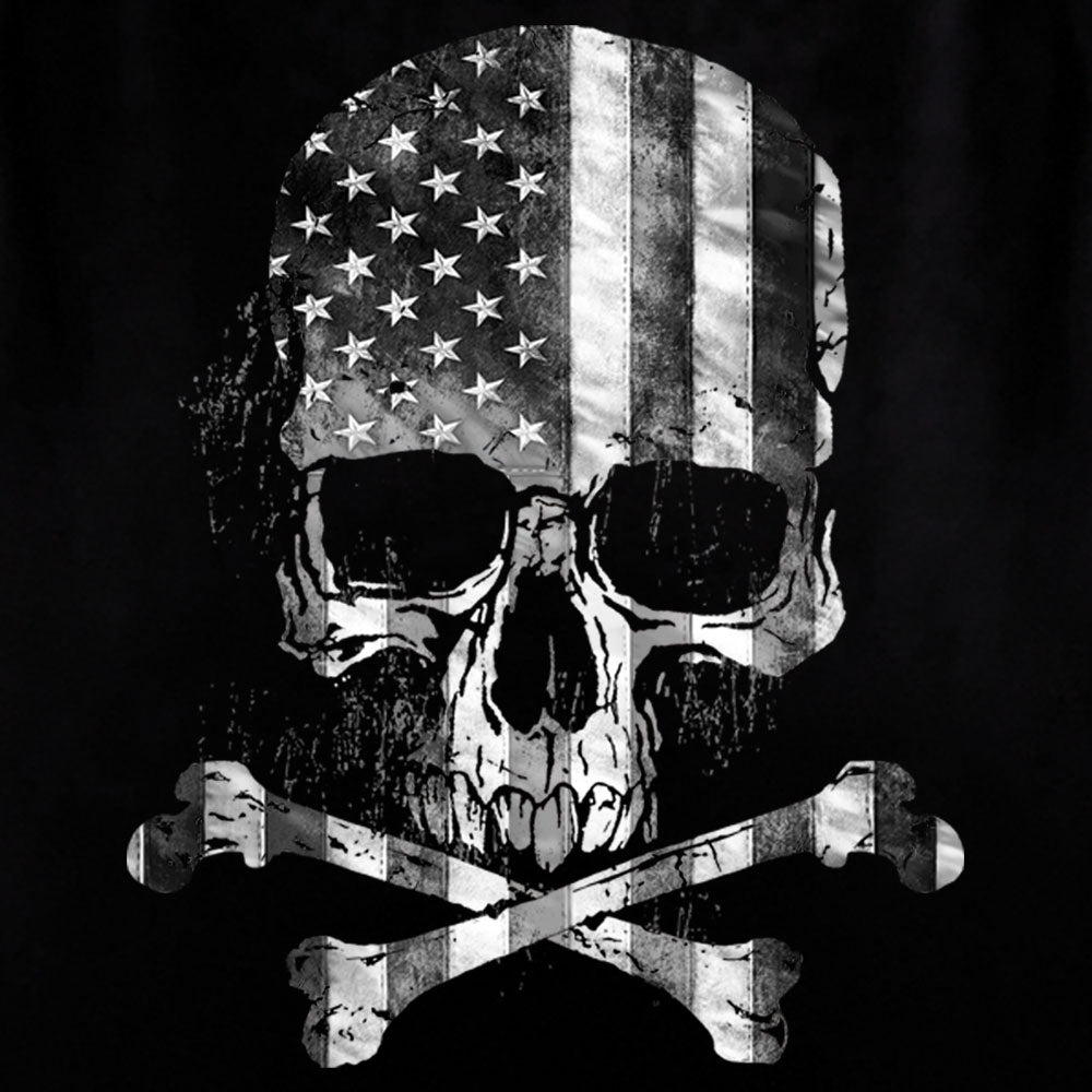 Hot Leathers Flag Skull Black Tank Top