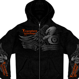 Hot Leathers Ghost Eagle Zipper Hoodie