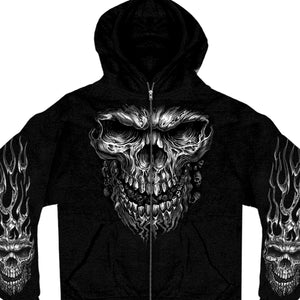 Hot Leathers Shredder Skull Zipper Hoodie