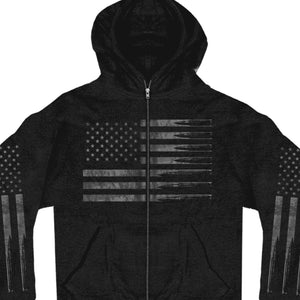 Hot Leathers American Flag Bullets Zipper Hoodie
