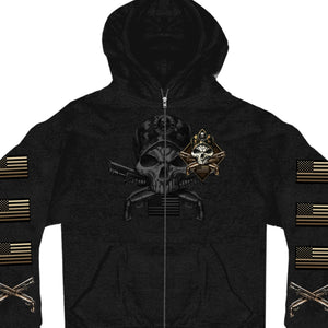 Hot Leathers Camo Skull Zipper Hoodie