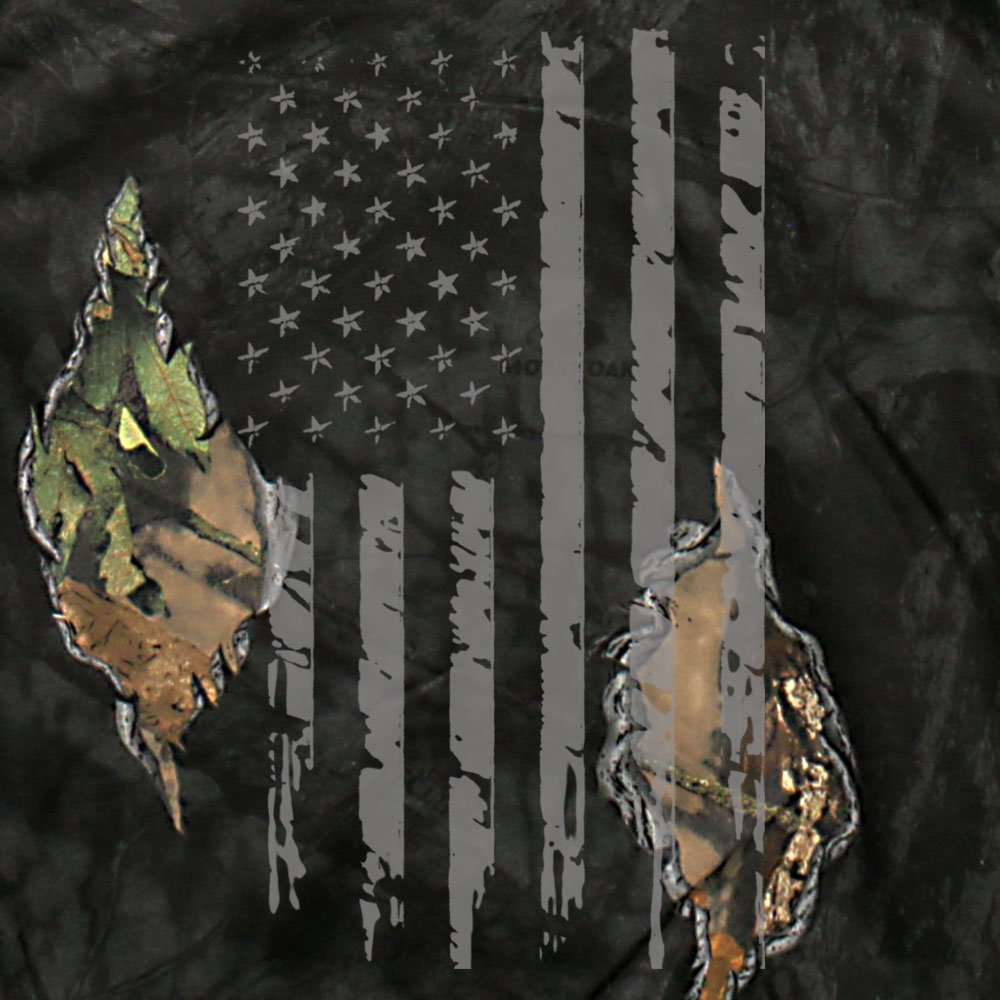 Mossy Oak & Hot Leathers Mashup Flag Eclipse Camo Zipper Hoodie