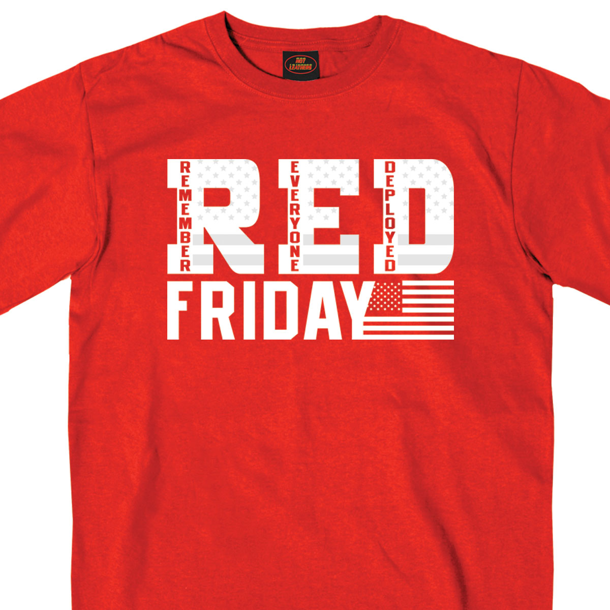 Hot Leathers Red Short Sleeve RED Friday Shirt