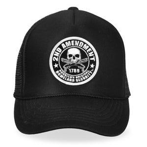 Hot Leathers 2nd Amendment America's Original Homeland Security Trucker Hat