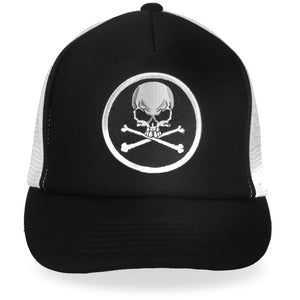 Hot Leathers Skull and Crossbones Trucker Hat