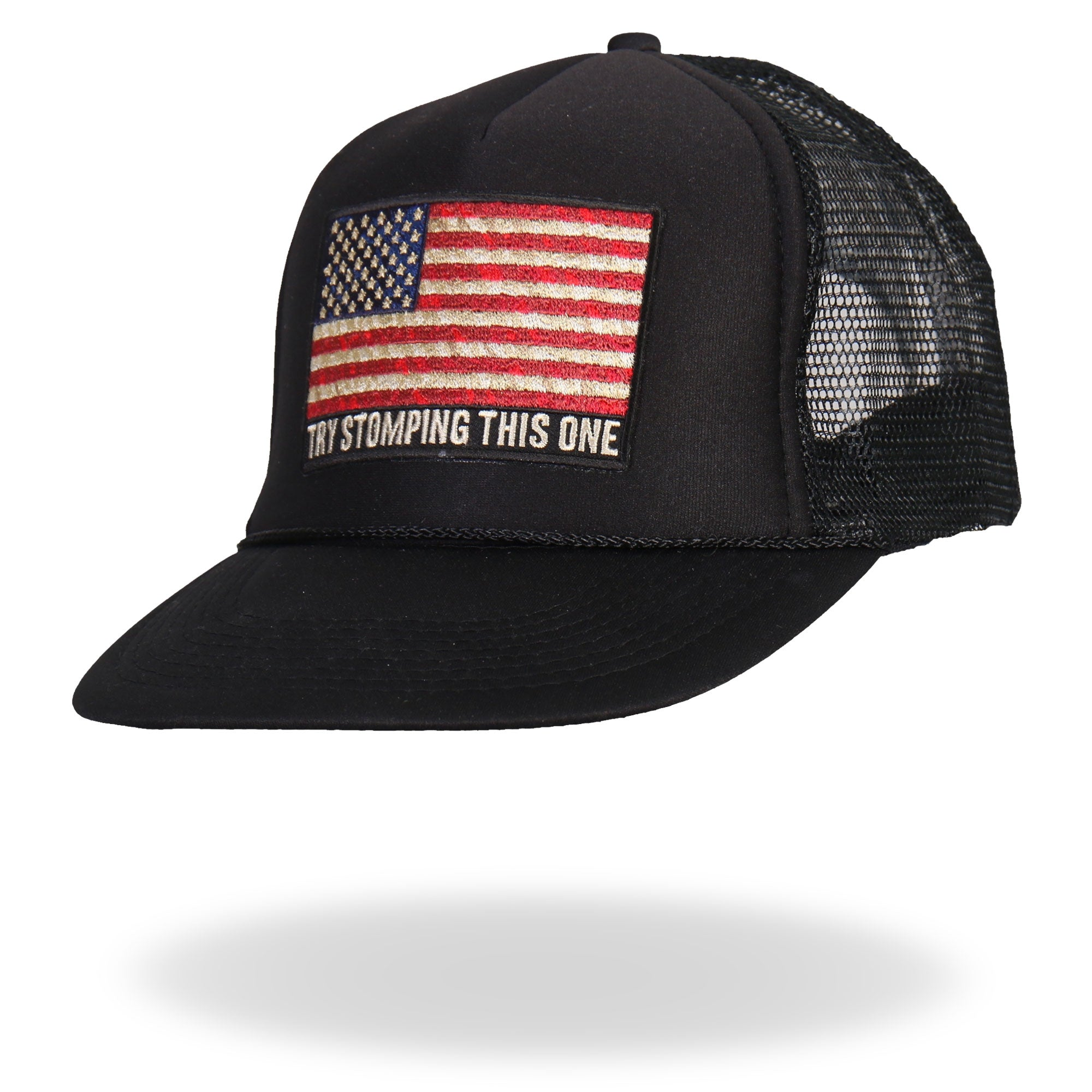 Hot Leathers Try Stomping This American Flag Trucker Hat