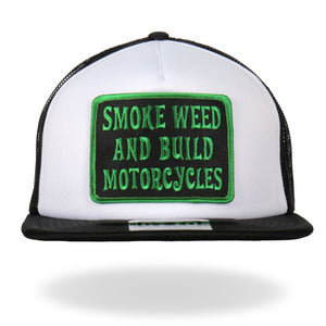 Hot Leathers Smoke Weed Trucker Hat
