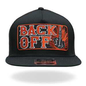 Hot Leathers Back Off Bone Finger Snap Back Hat