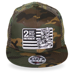 Hot Leathers 2nd Amendment Snap Back Camo Cap