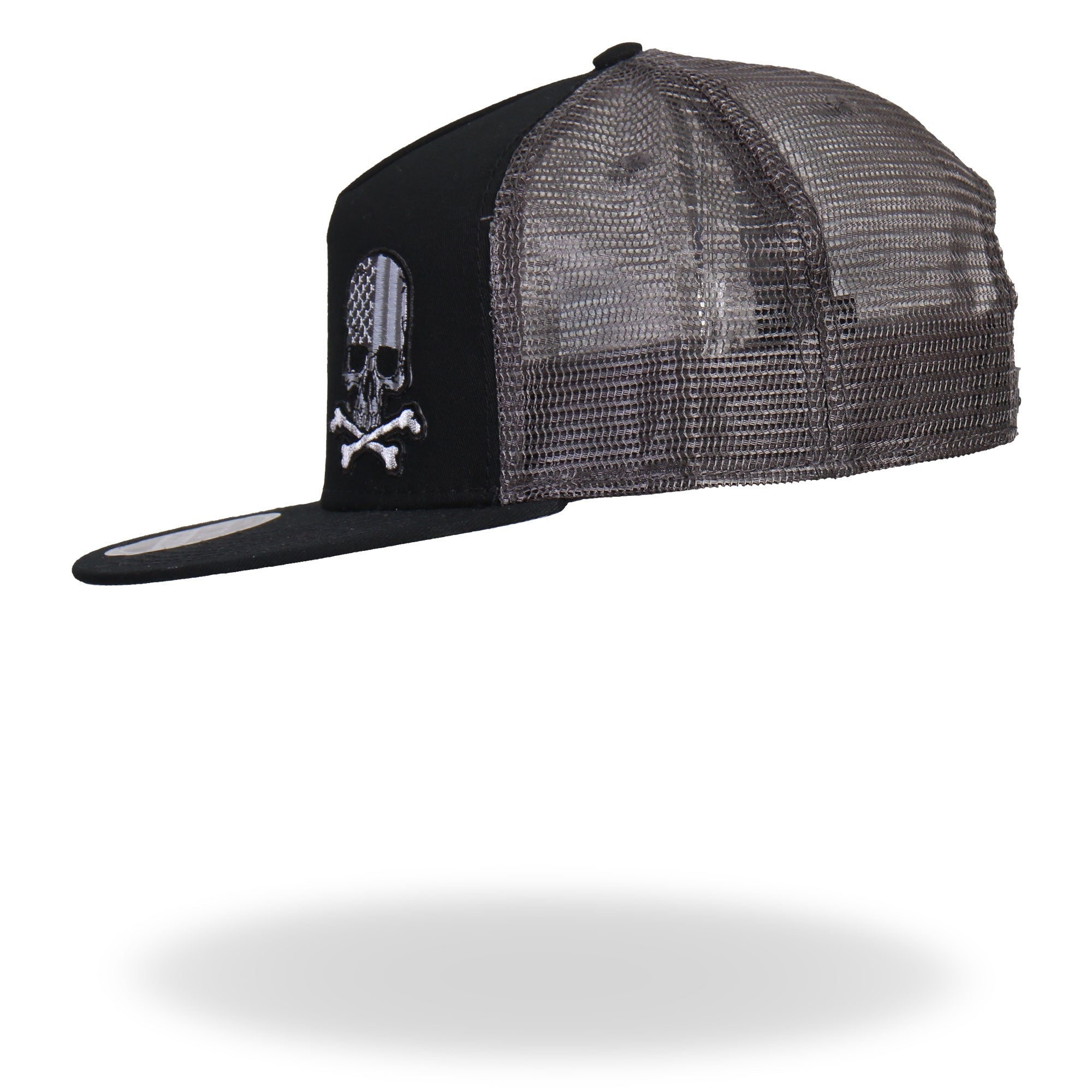 Hot Leathers Flag Skull Snap Back Ball Cap