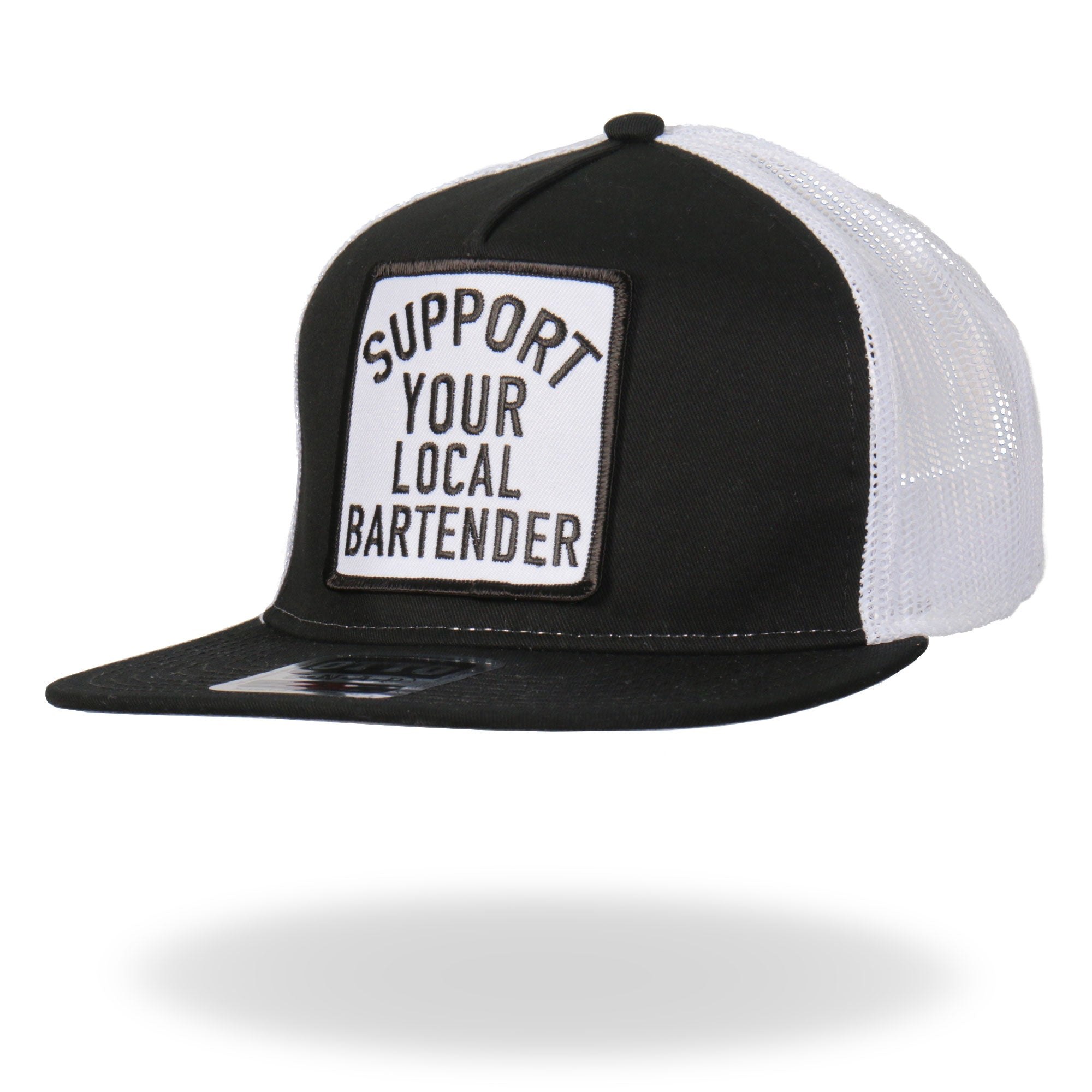 Hot Leathers Support Your Local Bartender Snapback Ball Cap