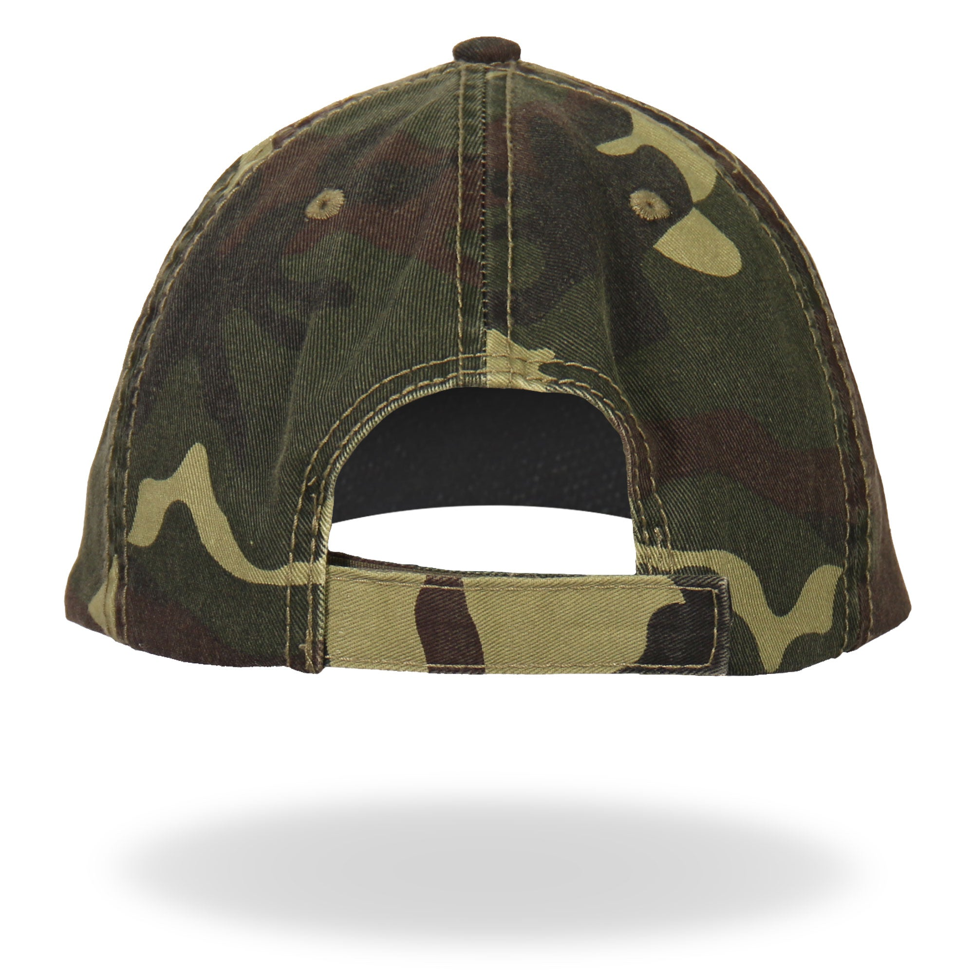 Hot Leathers 2nd Amendment Washed Camo Ball Cap