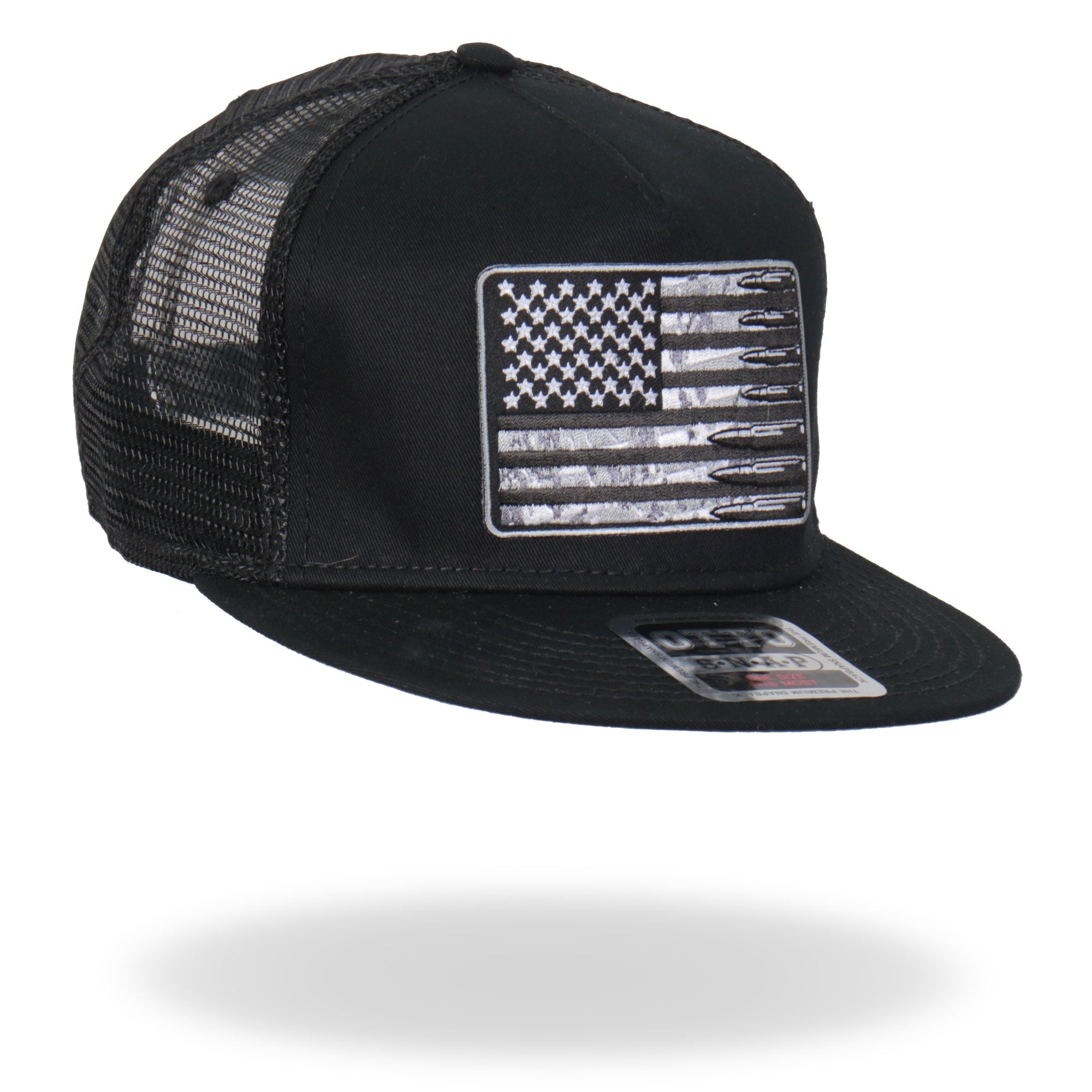 Hot Leathers Snap Back American Flag Bullets Hat