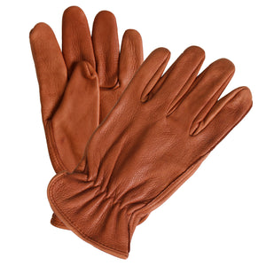 Hot Leathers Brown Deerskin Leather Driving Gloves