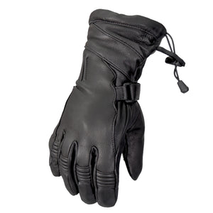 Hot Leathers Glove Deerskin Black Gauntlet