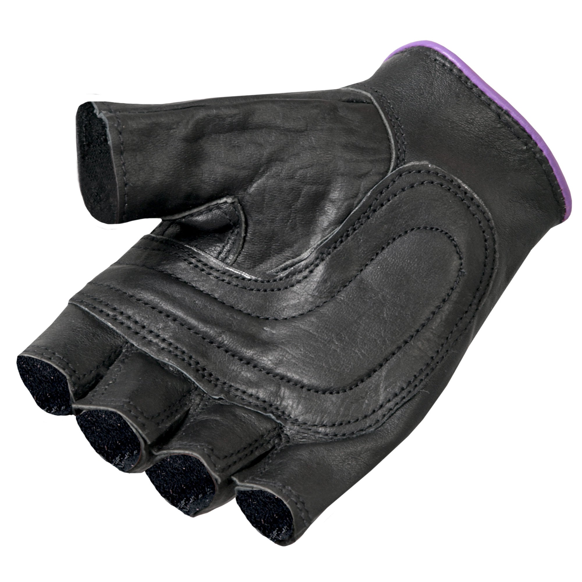 Hot Leathers Ladies Fingerless Gloves