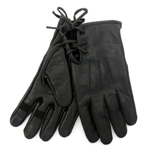 Hot Leathers Ladies Leather Gloves with Side Laces