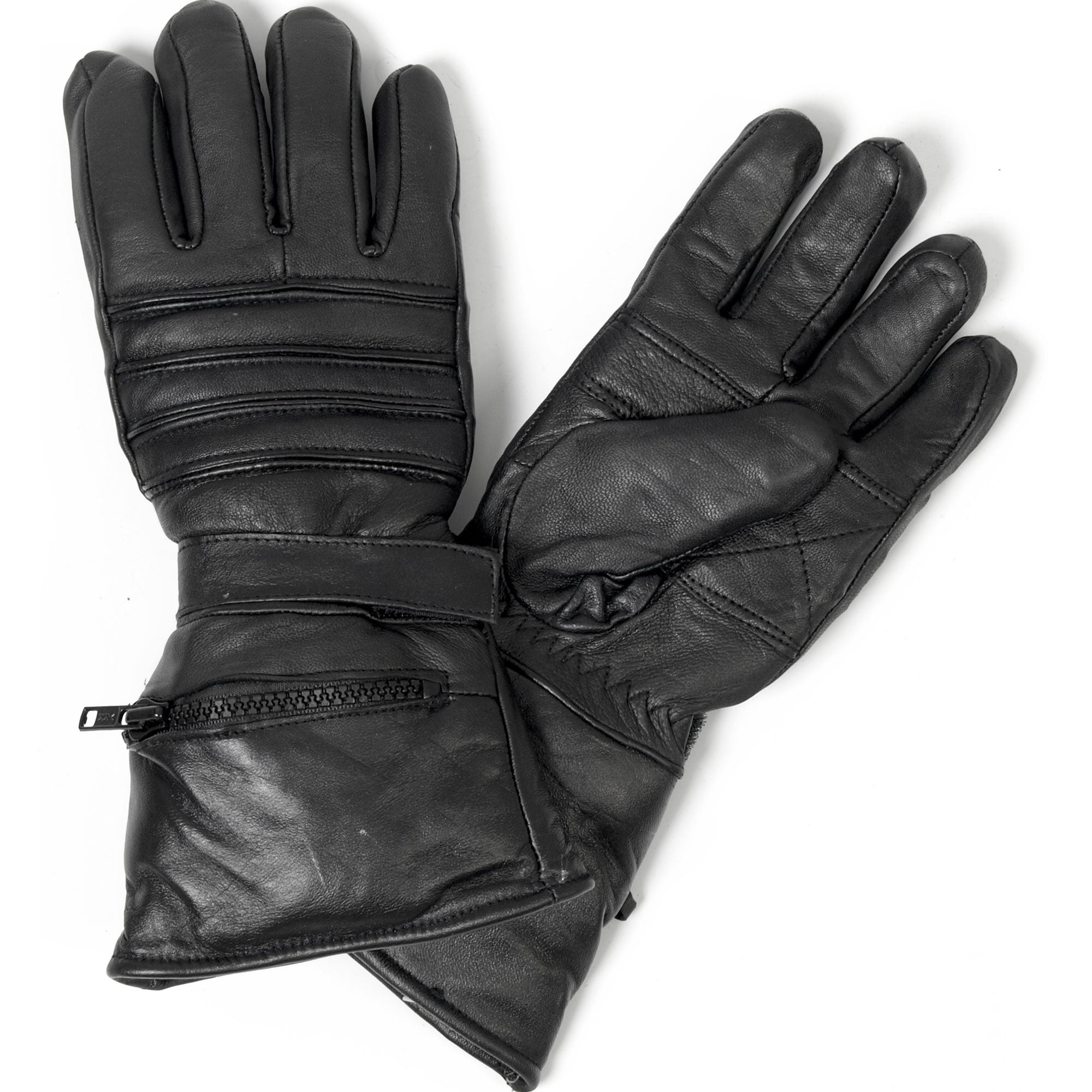 Hot Leathers Gauntlet Glove w/Quilted Lining