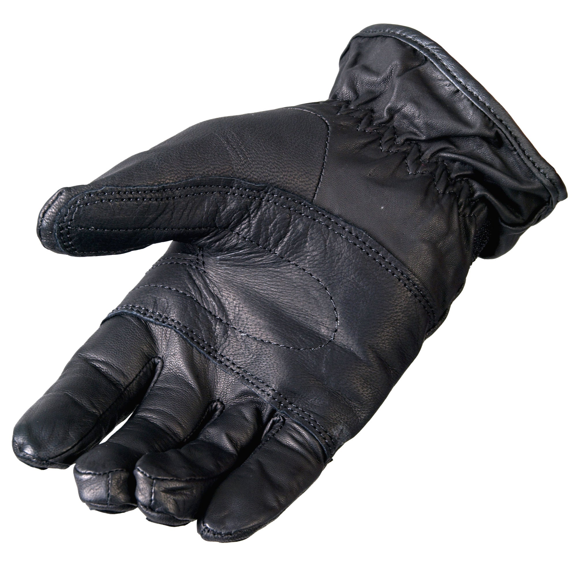 Hot Leathers Ribbed Leather Glove