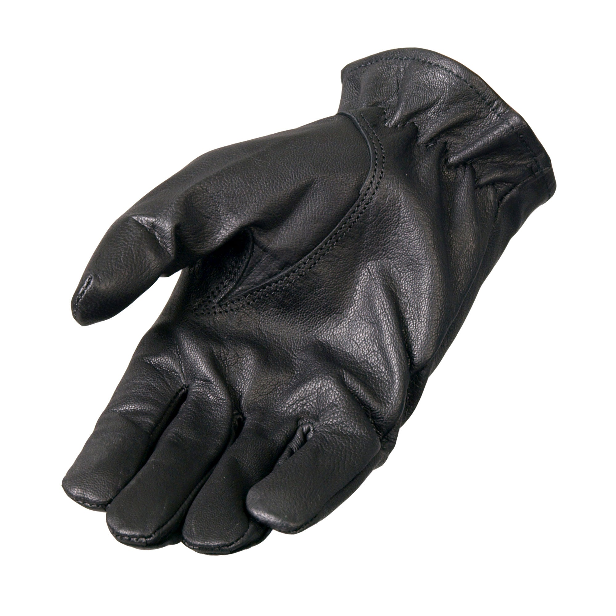 Hot Leathers Black Leather Driving Glove