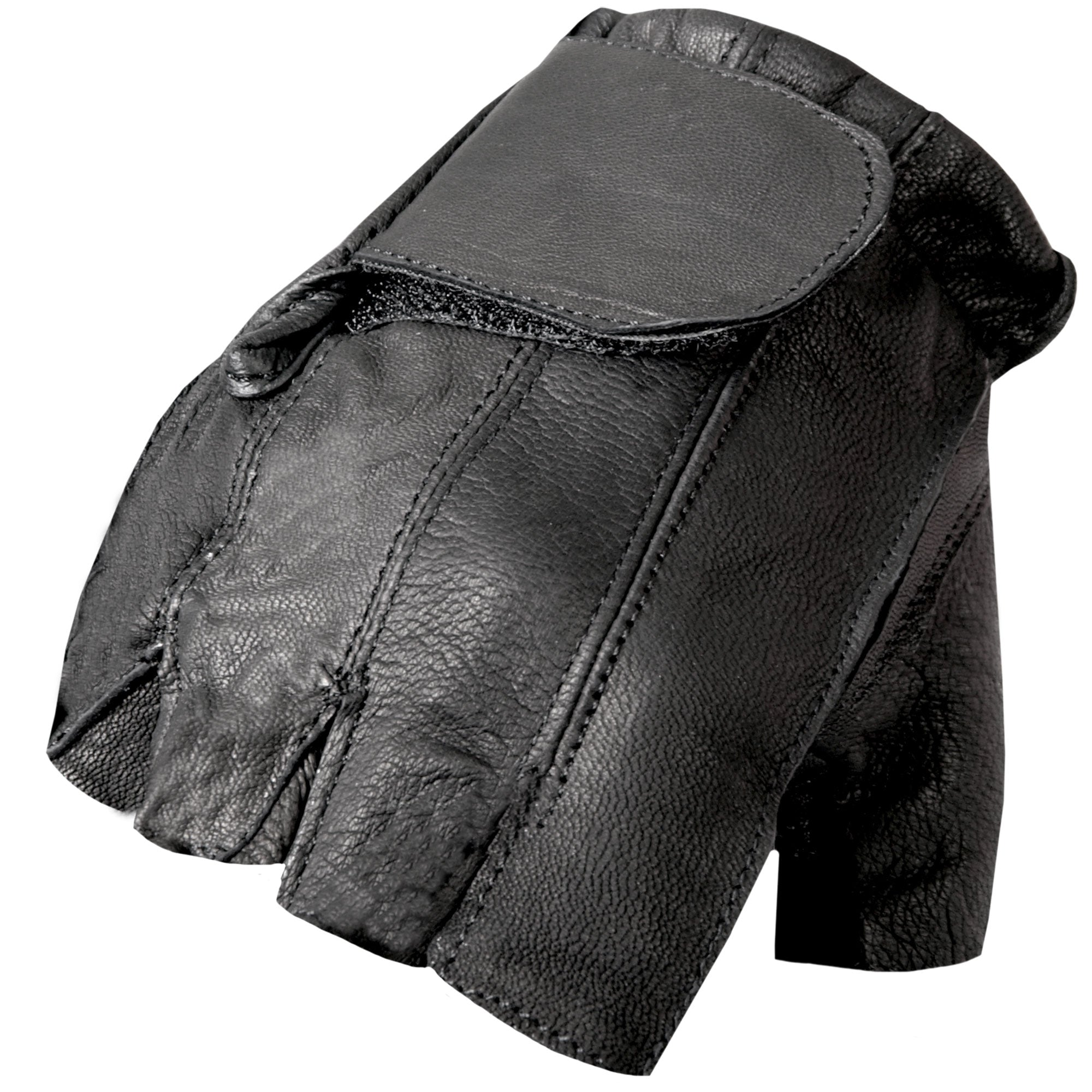 Hot Leathers Naked Leather Fingerless Glove