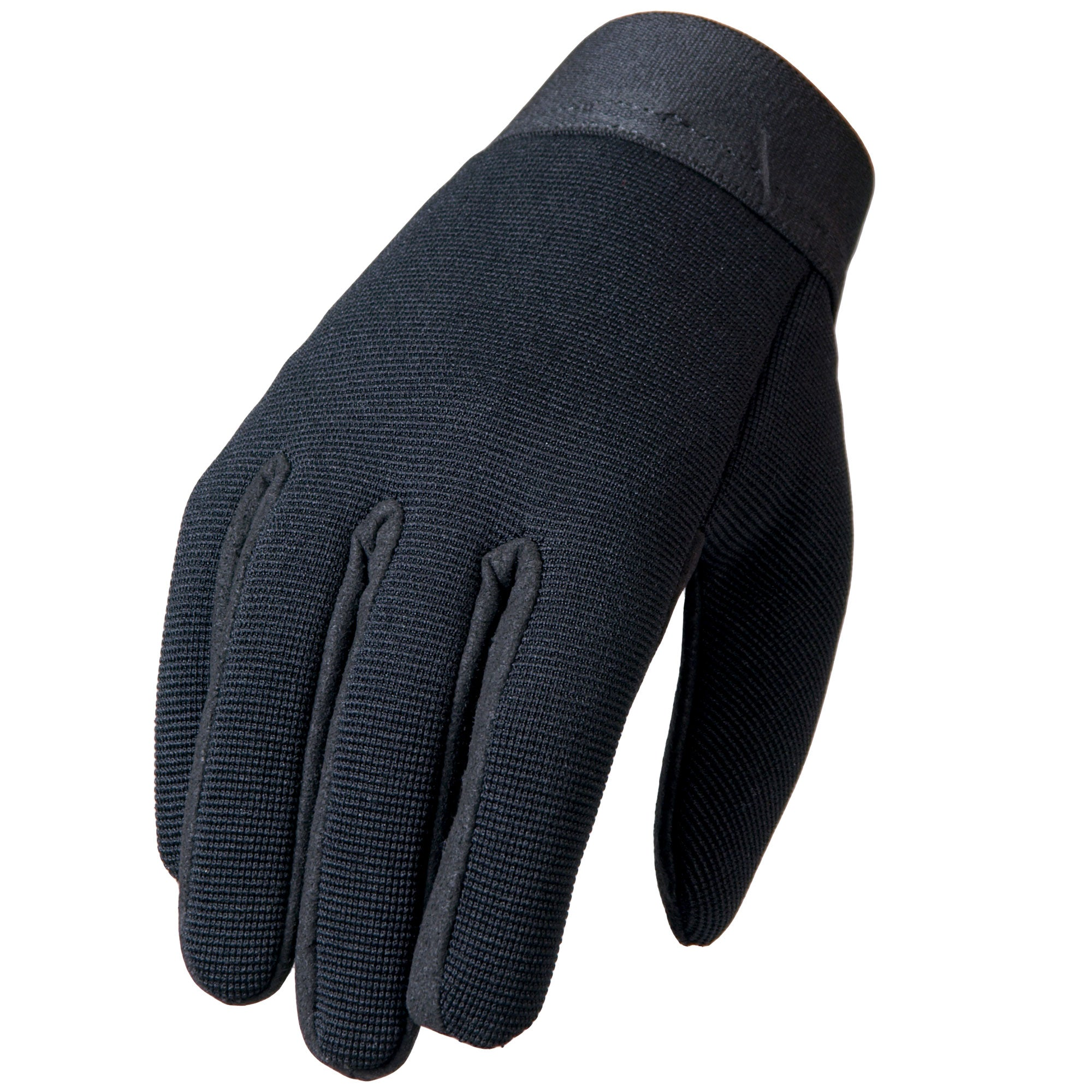 Hot Leathers Plain Black Mechanics Gloves