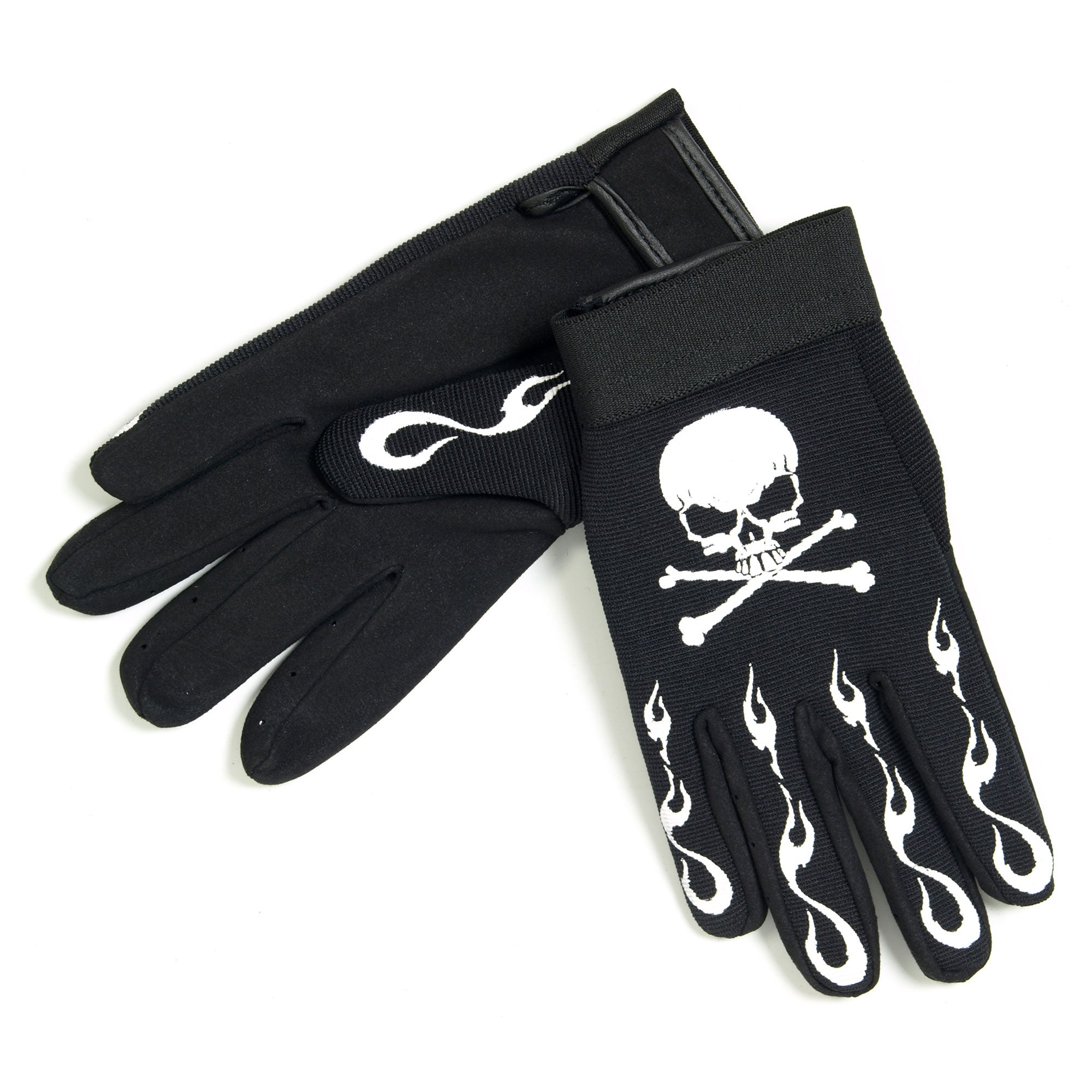 Hot Leathers Skull & Crossbones Mechanics Gloves