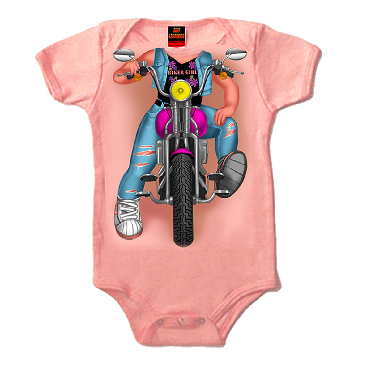 Hot Leathers Headless Girl Biker Bodysuit