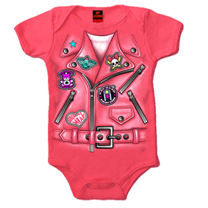 Hot Leathers Girls Leather Jacket Baby Bodysuit