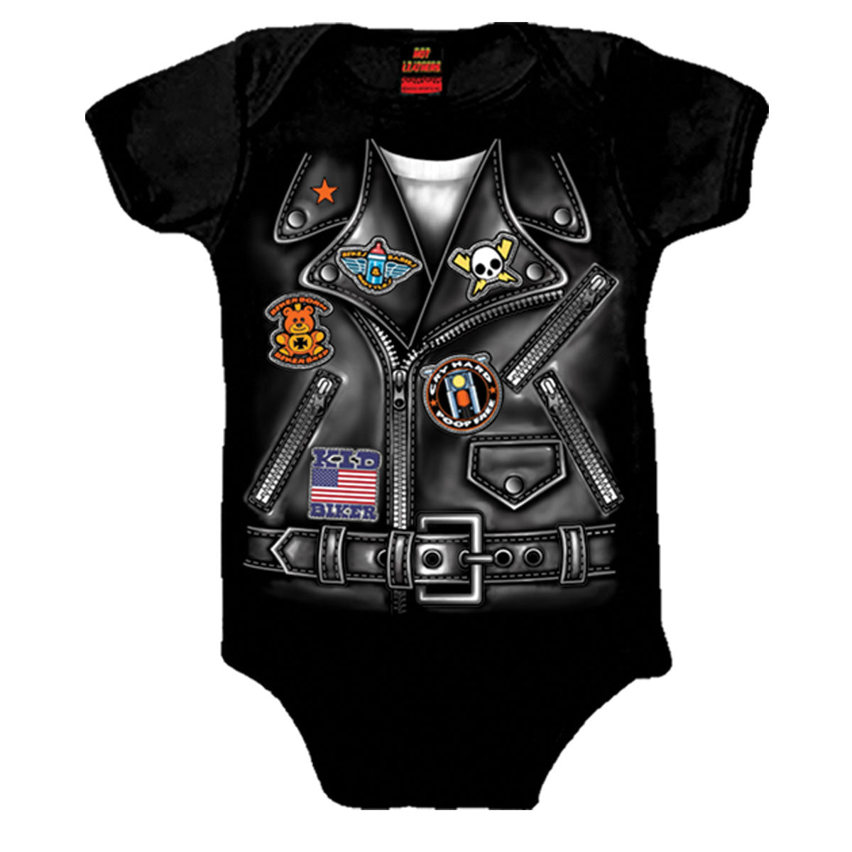 Hot Leathers Boys Leather Jacket Baby Bodysuits