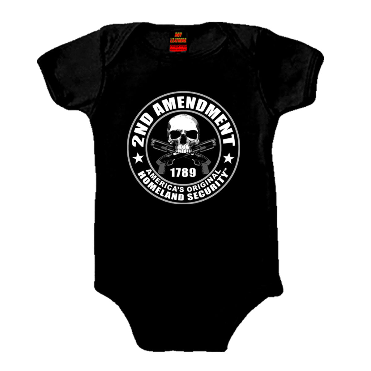 Hot Leathers 2nd Amendment America's Original Homeland Security Baby Body Suit