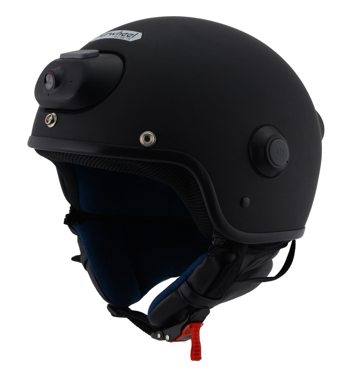 Milwaukee Performance Helmet MPH9802DOT 'Vision' Open Face Matte Black Helmet with Video Camera