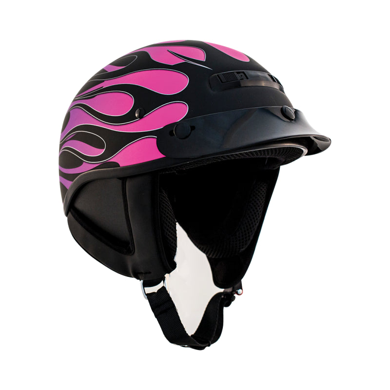 ZOX ST-225B 'Alto Custom' Hot Rod Matte Purple Motorcycle Open Face Helmet