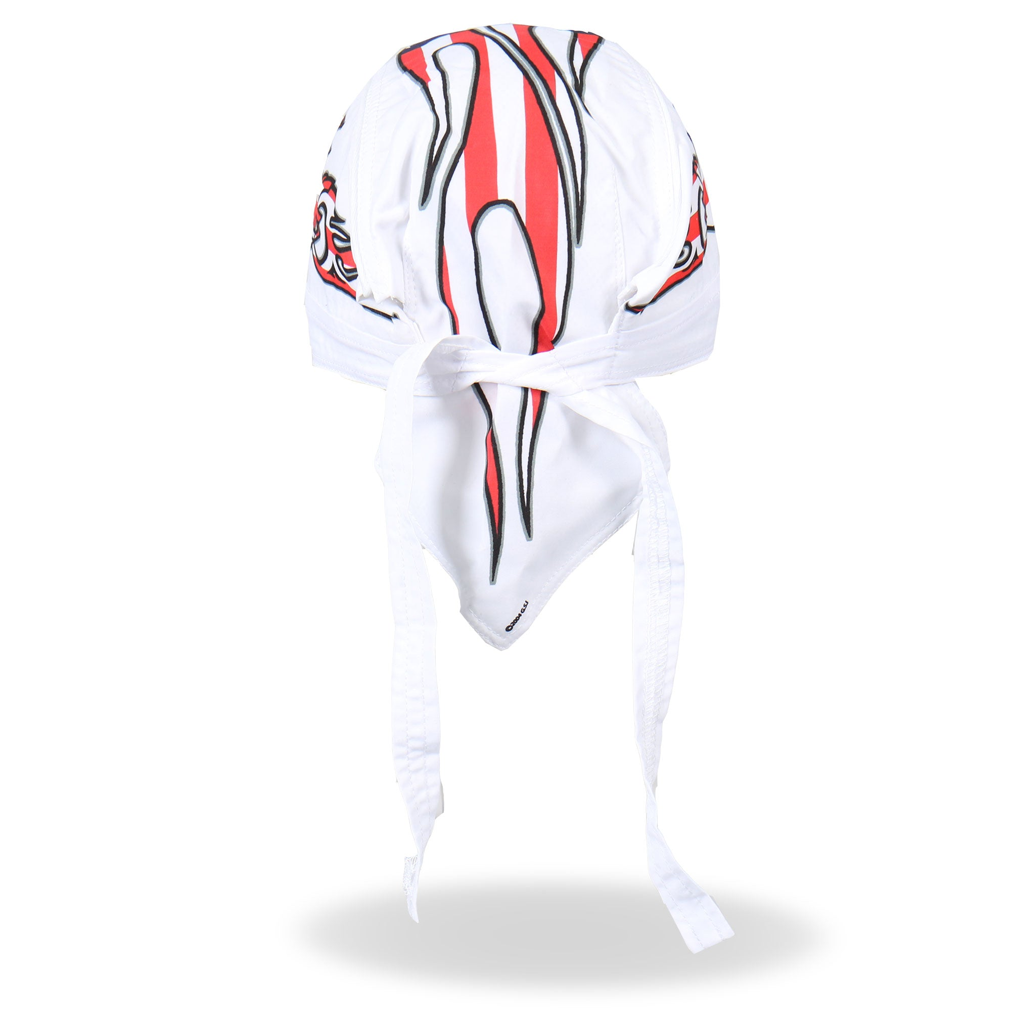 Hot Leathers American Bike Headwrap White
